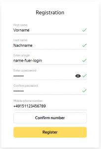 Yandex Konto