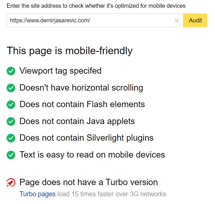 Yandex Mobile-Test