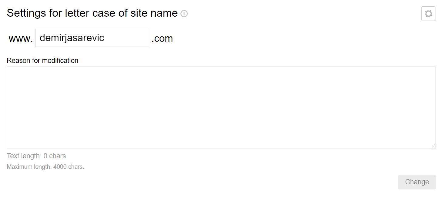 Yandex Webmaster Tools Schreibweise