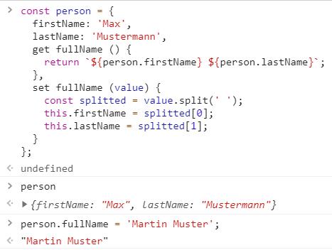 JavaScript: Getter und Setter
